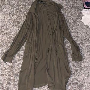 Olive Green Longline Jacket